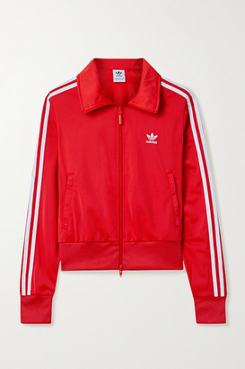 adidas Firebird Striped Jersey Track Jacket - Red