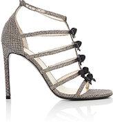 Saint Laurent Women's Mini-Bow-Embellished Sandals-GOLD
