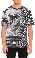 Versace Painted Medusa Studded-Trim T-Shirt