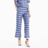 J.Crew Collection cropped pant in yarn-dyed silk