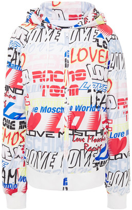 Love Moschino Printed Shell Hooded Jacket