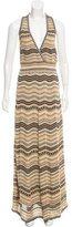 M Missoni Metallic Knit Maxi Dress w/ Tags