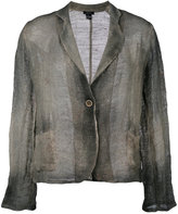 Avant Toi overdyed knitted blazer - women - Cotton/Linen/Flax - M