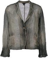 Avant Toi overdyed knitted blazer - women - Cotton/Linen/Flax - S