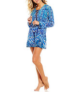 LaBlanca La Blanca Sabi Sands Lace-Up Tunic Cover-Up