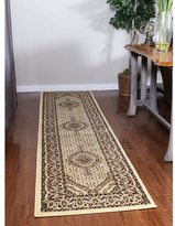 Linon Persian Treasures Mahi Tabriz Cream Oriental Polypropylene Runner Rug (2'3-inch x 10')
