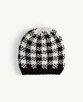 Ann Taylor Houndstooth Sweater Hat