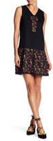 Anna Sui Pansy Print Trimmed Tank Dress