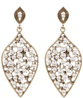 Natasha Accessories Teardrop Faux Pearl Earrings
