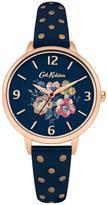 Cath Kidston Windflower Bunch Navy Photo Print Dial Navy & Rose Gold Strap Ladies Watch