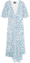 Topshop Balfour Printed Silk-Georgette And Crepe De Chine Dress