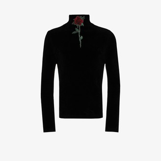Y/Project Embroidered Rose Turtleneck Sweater