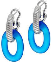 Judith Ripka Verona Sterling Silver Gem LinkHoop Earrings