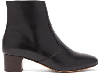 A.P.C. Joey Leather Ankle Boots - Womens - Black
