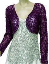Alivila.Y Fashion Mesh Sequins Long Sleeve Bolero Shrug Jacket 3051
