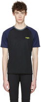 Fendi Black Activewear Logo T-Shirt