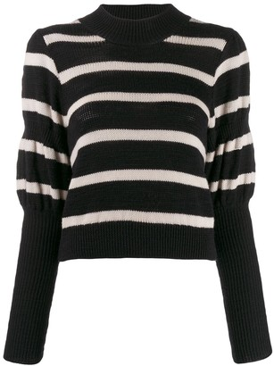 Derek Lam 10 Crosby Puff Sleeves Knitted Sweater