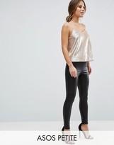 Asos Leather Look Leggings with Elastic Slim Waist