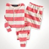 Striped Henley Pajama Set
