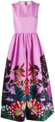 Valentino Mirrored Orchid Ramage sleeveless jumpsuit