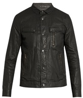 John Varvatos Distressed Washed-linen Jacket