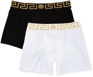 Versace Two-Pack Greca Border Long Boxer Trunks