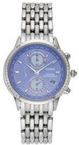 Citizen Eco-Drive Women's World A-T Diamond Stainless Steel Chronograph Watch - FC5000-51L