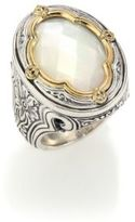 Konstantino Selene Mother-Of-Pearl, 18K Yellow Gold & Sterling Silver Clover Ring