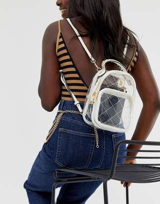 Aldo Faux Leather Back Pack-White