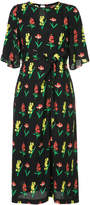 Muveil knotted floral midi dress