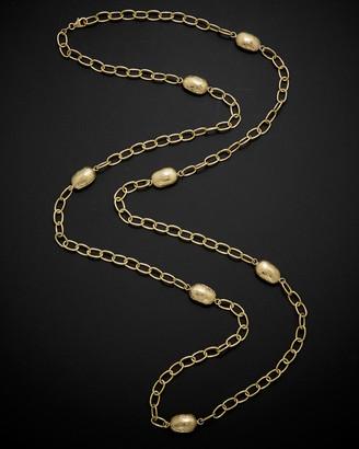 Italian Gold 14K 36In Bean Necklace