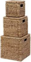 Very Arrow Weave Wicker Storage Baskets (Set of 3)