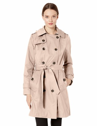 """London Fog Women's 36"""" Length Double-Breasted Trench Coat with Belt"""