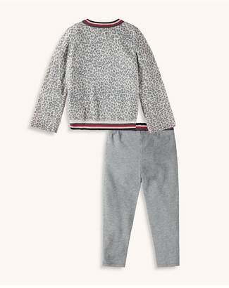 Splendid Kids Little Girl Leopard Sweater Knit Top Set