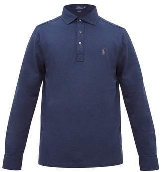 Polo Ralph Lauren Logo-embroidered Cotton-blend Pique Polo Shirt - Mens - Blue