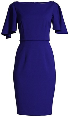Trina Turk Luxurious Drape-Sleeve Dress