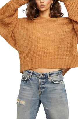 Free People Lulu Oversize V-Neck Sweater