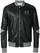 Philipp Plein Mei leather bomber jacket