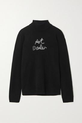 Bella Freud Art Dealer Embroidered Cashmere Turtleneck Sweater - Black