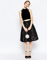 Asos Full Midi Skirt with Laser Cutting