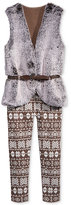 Beautees 2-Pc. Faux-Fur Vest & Leggings Set, Girls (7-16)