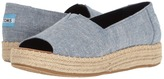 Toms Open Toe Platform Alpargata Women's Toe Open Shoes