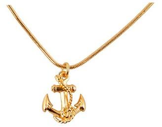 Roz Buehrlen Gold Anchor Pendant
