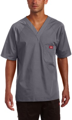Dickies Men's Raglan Sleeve Solid Scrub Top