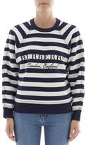 Burberry Women's White/black Wool Sweatshirt.