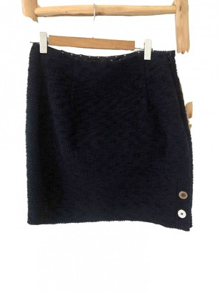 Claudie Pierlot Fall Winter 2019 Blue Cotton Skirt for Women