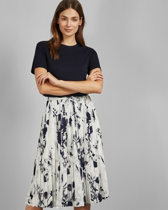 Ted Baker Bluebell Printed Midi Dress