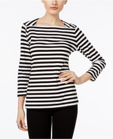 INC International Concepts Striped Envelope Top, Only at Macy's