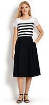 Classic Women's Petite Woven Stretch Midi Skirt-Falling Petals