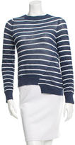 A.L.C. Striped Asymmetrical Sweater